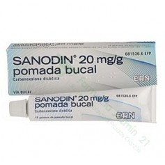 SANODIN 20 MG/G POMADA BUCAL, 1 TUBO DE 15 G