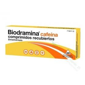 BIODRAMINA CAFEINA COMPRIMIDOS RECUBIERTOS , 12 COMPRIMIDOS