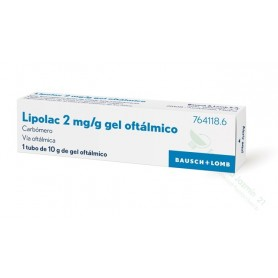 LIPOLASIC 2 MG/G GEL OFTALMICO , 1 TUBO DE 10 G